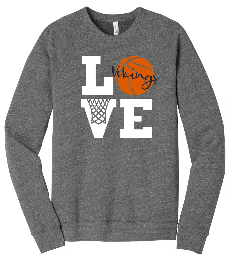 River Valley Basketball LOVE Sponge Fleece (Soft Crewneck)