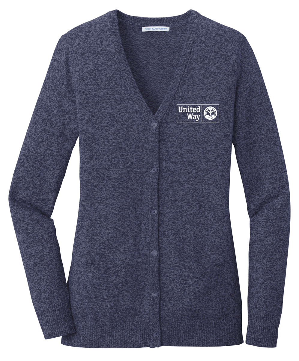 United Way Port Authority ® Ladies Marled Cardigan Sweater