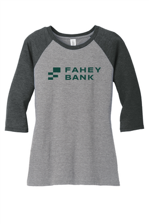 District ® Perfect Tri ® 3/4-Sleeve Raglan FAHEY Bank