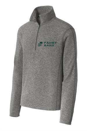 Port Authority® Heather Microfleece 1/2-Zip Pullover FAHEY Bank