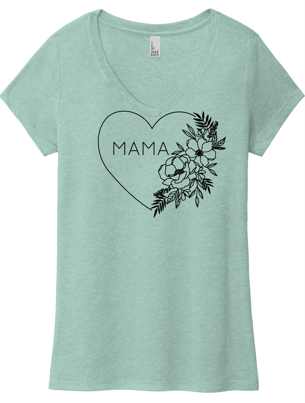 Floral Heart MAMA (soft t)