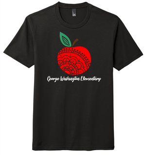 Marion City Schools Apple logo, District ® Perfect Tri®Tee