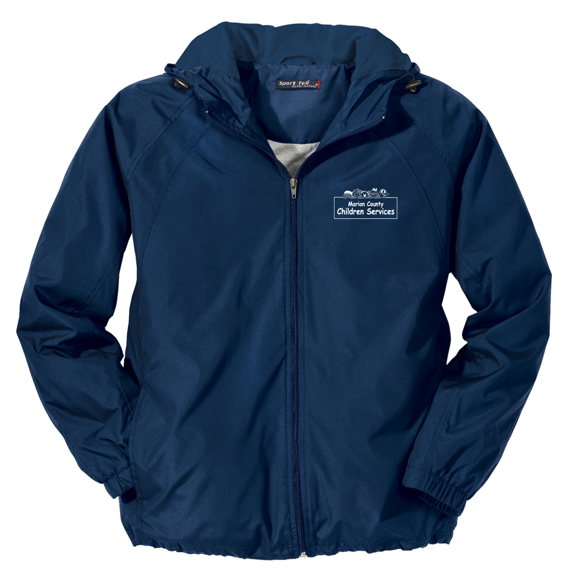 Children Services Hooded Raglan Jacket