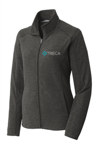 Treca Embroidered, Port Authority® Heather Microfleece Full-Zip Jacket