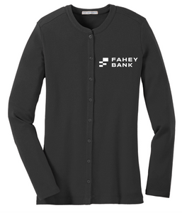 Port Authority® Ladies Concept Stretch Button-Front Cardigan FAHEY Bank