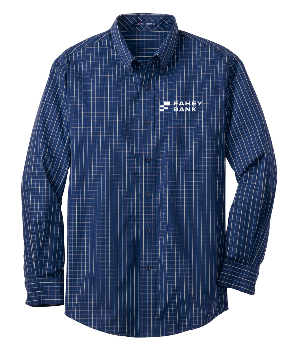 Port Authority® Tattersall Easy Care Shirt FAHEY Bank