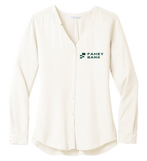 Port Authority® Ladies Long Sleeve Button-Front Blouse