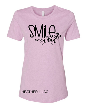SMILE everyday (soft t)