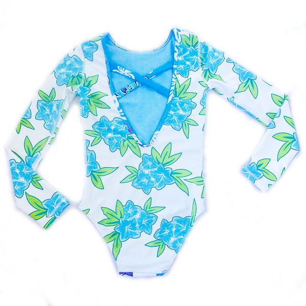 Girls Long Sleeve Coolie-Kini - Lagoon