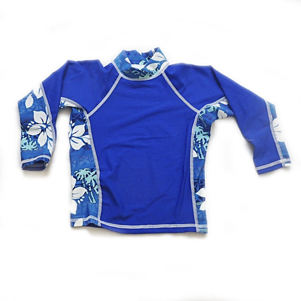boys blue printed rash guard SPF 50+