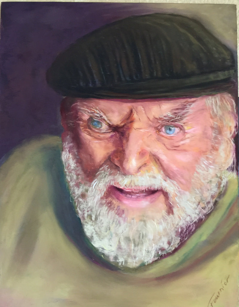 "Portrait -Hermann the German 11'X14"" Pastel on Board"