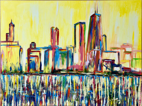 """Chi-Town"" Oil on Canvas 48in x 36in"