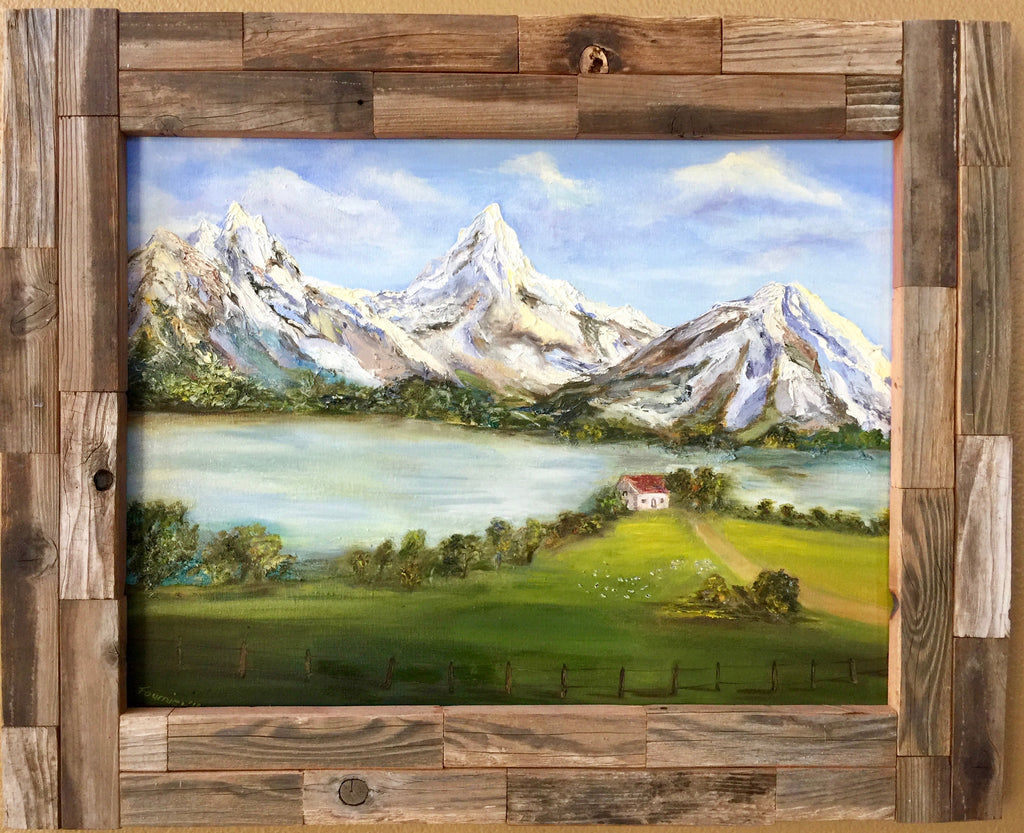 "Alpenland- Oil on Canvas 24"" x18"""