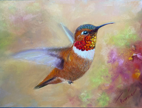 "In Flight- Collection- Pastel on Board 15""x18"""