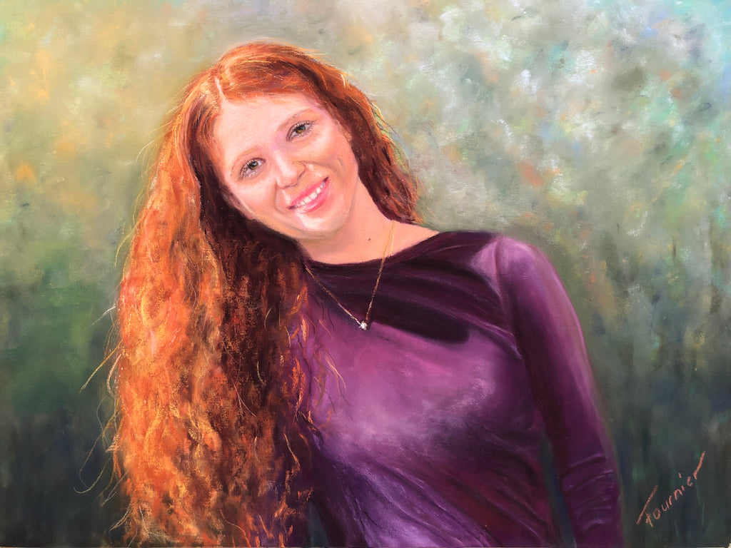 """Red Head"" Pastel 16""X20"" Commissioned -SOLD"
