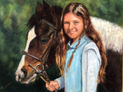 """Horse Girl"" Commissioned Art-SOLD"