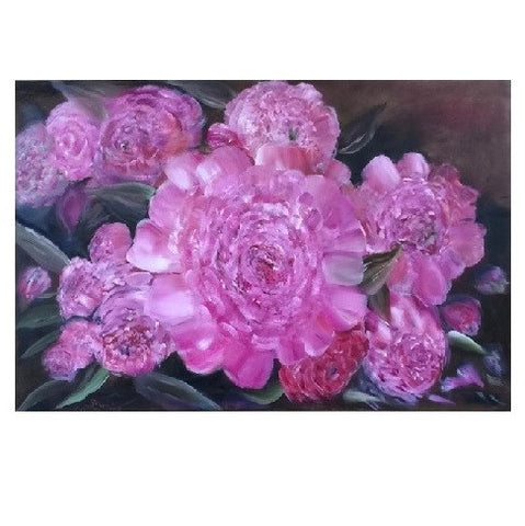 "Paeonia- Oil on Canvas 36"" x 24"""