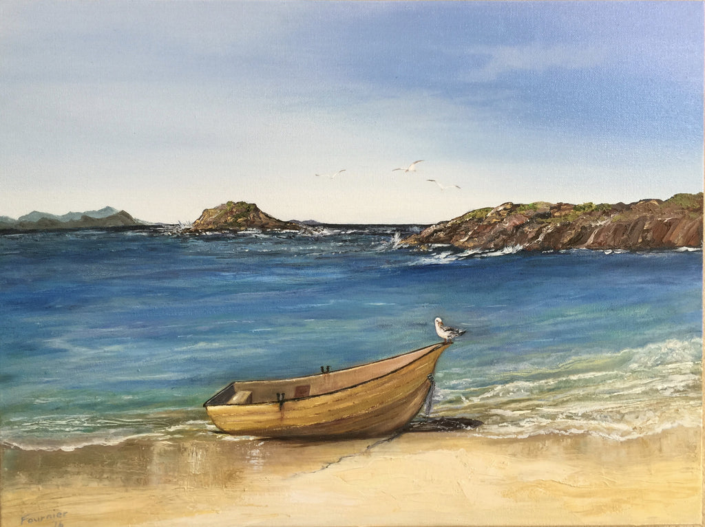 SOLD-Beached-Oil on Canvas 24x18in