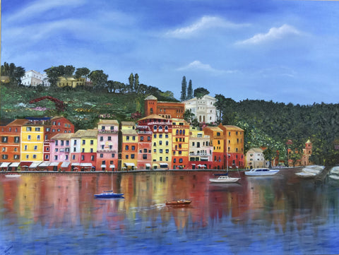 Magnifica Portofino-Original Oil on Canvas 40x30 in
