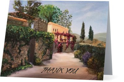 Toscana-5.5x 4 folded-Thank you-Greeting Cards-set of 5