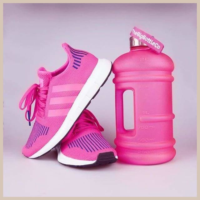 BigBottle 2 2L Frosted Pink - Trinkflasche