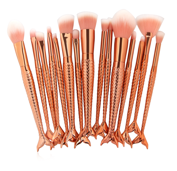 Mermaid Makeup - 15 Piece Brush Set