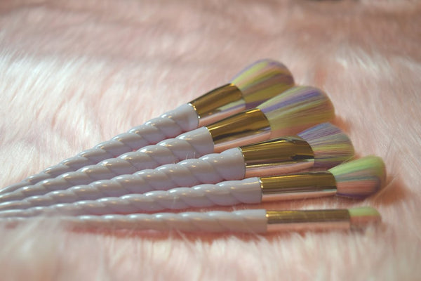 Candy Unicorn Makeup Brushes - 5 Piece Set - Pre Order