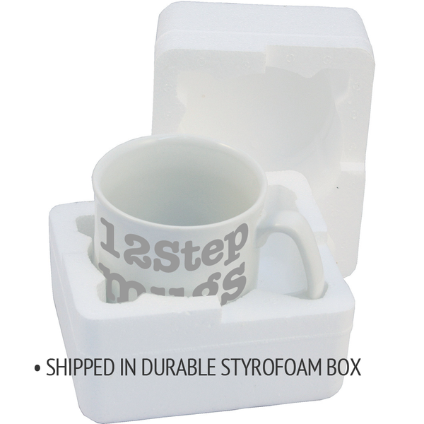 Special coffee mug packaging - 12steptees