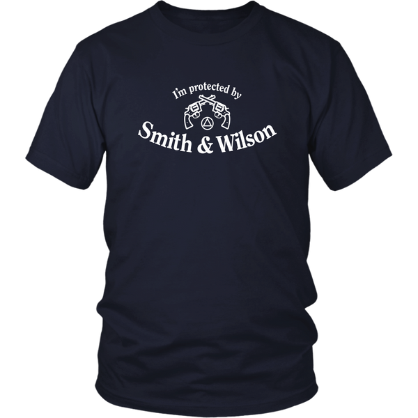 I'm Protected By Smith & Wilson - AA Unisex T-Shirt-12 Step Tees