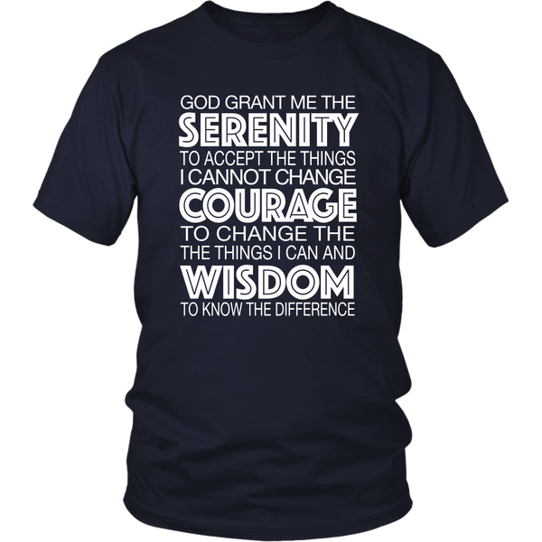 The Serenity Prayer - 12steptees