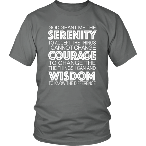 The Serenity Prayer - 12steptees.com