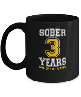 Three Years Sober       -     Anniversary Mug - 12steptees