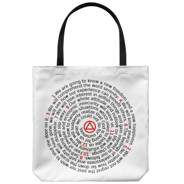 12 Promises of AA Tote Bag - 12steptees