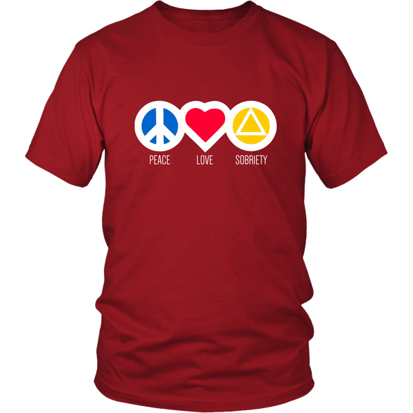 Peace Love & Sobriety - 12steptees