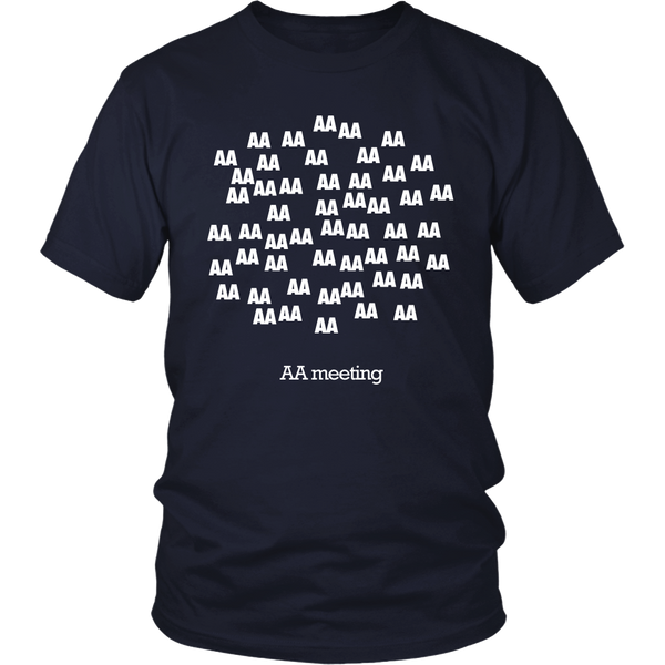 """AA Meeting"" - AA Unisex T-Shirt-12 Step Tees"