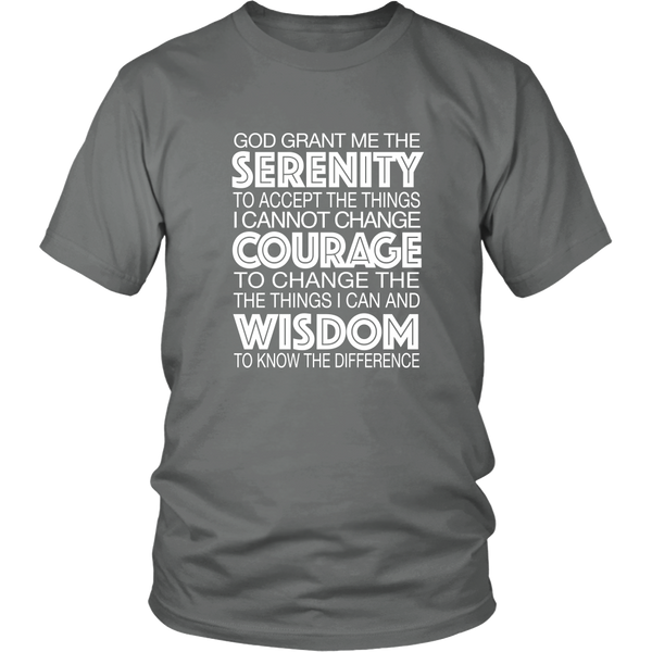 Serenity Prayer #1 - 12steptees.com