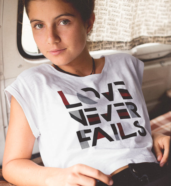 Love Never Fails Women's Shirt and Tank Top