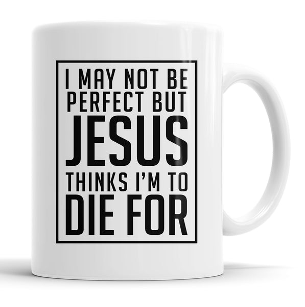 I May Not Be Perfect Mug