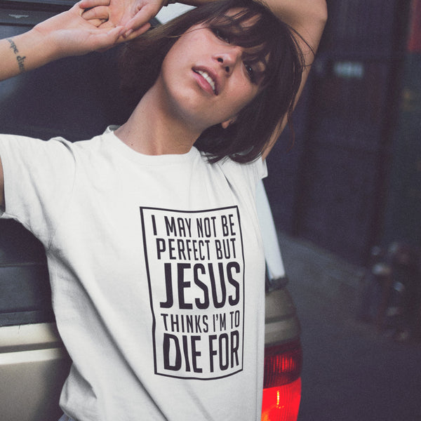 I May Not Be Perfect But Jesus...T-Shirt