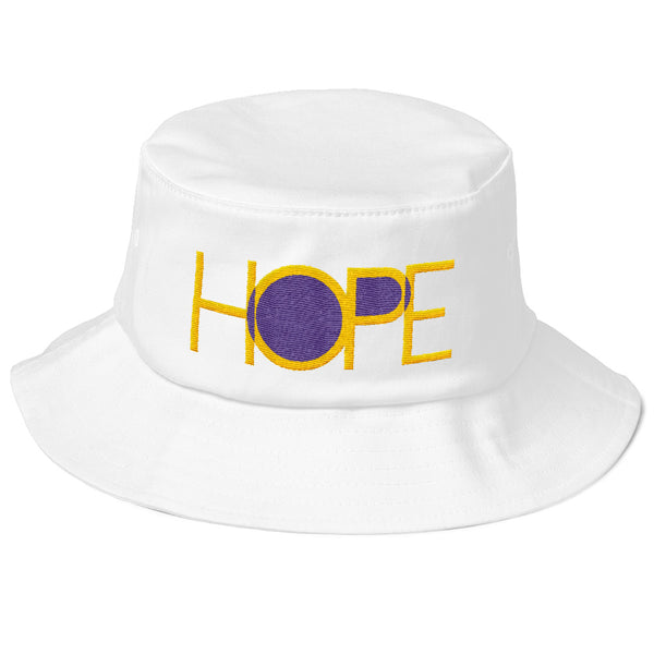 HOPE Old School Bucket Hat (Flat Embroidery)