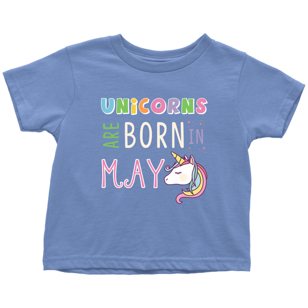 Unicorns Are Born in May Kids T-Shirt