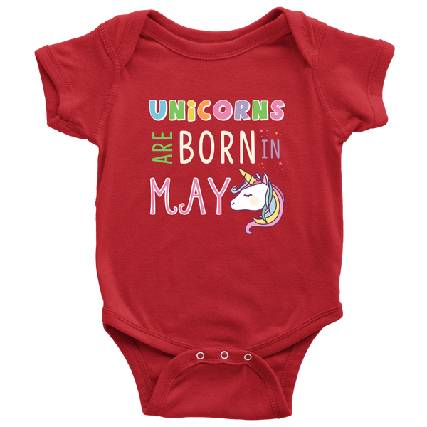 Unicorns Are Born in May Onesie