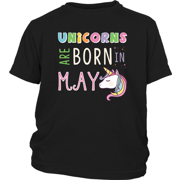 Unicorns Are Born in May Youth T-Shirt