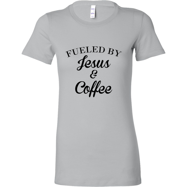 Fueled By Jesus and Coffee Women's Shirt and Tank Top