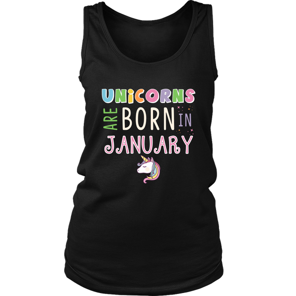 Unicorns Are Born in January T-Shirt