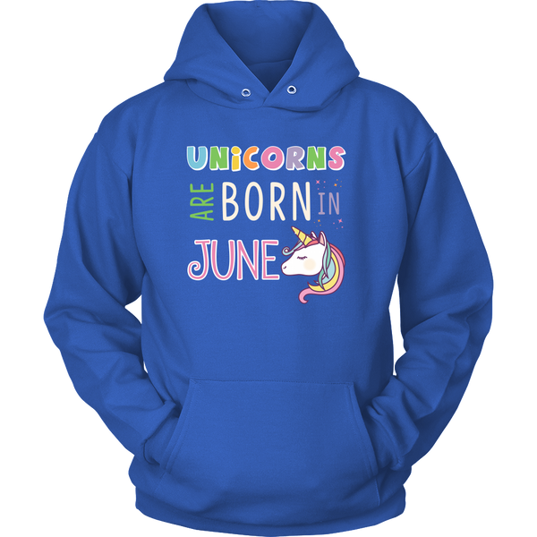Unicorns Are Born In June Hoodie and Long Sleeve