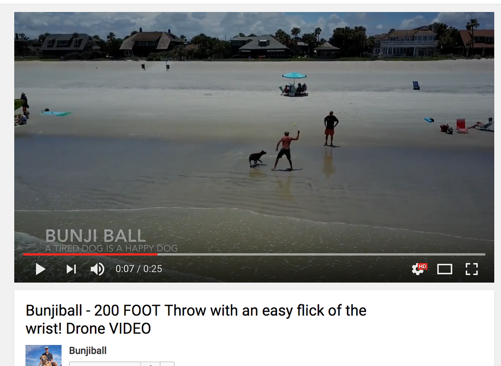 VIDEO // Bunjiball Easy Flick of the Wrist, Ball Flies over 200 feet!!!!