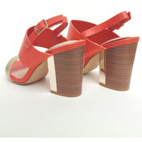 CORAL CRUSH - Coral & Gold Heels - FINAL SALE