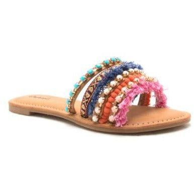 ANNA - Colorful Beaded Sandal - FINAL SALE