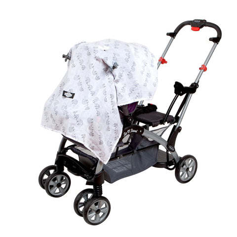 Organic Cotton Baby Car Seat Canopy Cover Stroller With Clips EN Babies